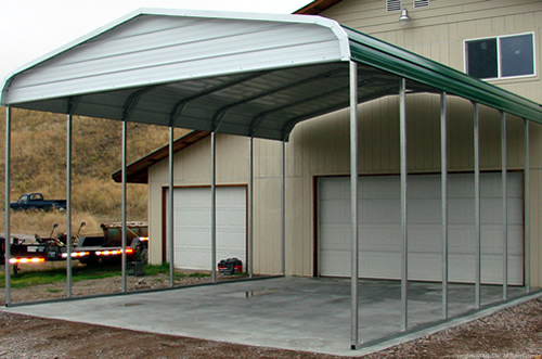 West coast metal buildings home carports garages for Home hardware garage packages