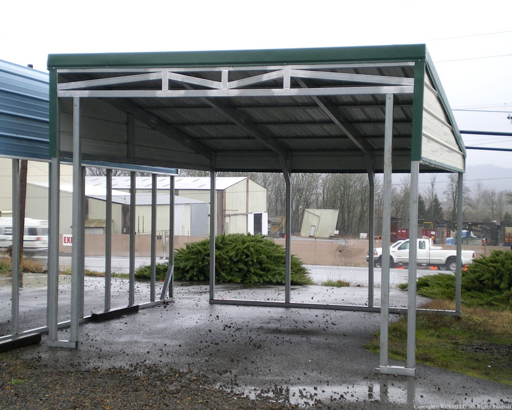 Rv Lean To Carport : West coast metal buildings lean to c carports garages